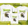 Lembrança De Aniversario Shrek Personagem Camiseta Kit Com 3