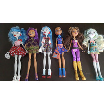 Monster High Clawdeen Wolf, Lagoona, Ghoulia, Robecca