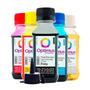 Kit Tinta Para Epson Cx5600 Cmyk 400ml + Solução De Limpeza