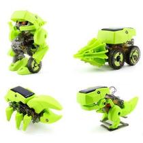 Robot Solar Armable 4 En 1 Educativo , Dinosaurio Solar