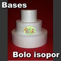 Bases Isopor Bolo Fake Falso Cenográfico Decoração 3 Andares