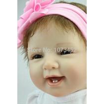 Boneca Bebê Reborn Realista Vinil Silicone 55cm Frete Gratis