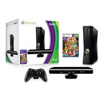 Xbox 360 4g Novo Na Caixa, Kinect, 1 Controle E 2 Jogos Orig
