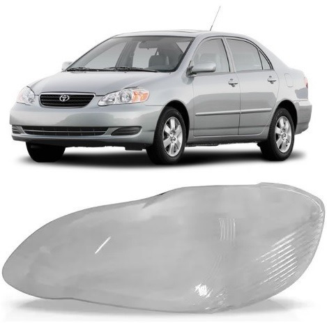 Lente Farol Toyota Corolla 2003 2004 2005 2006 2007 2008 L.e   R$ 80,30 Em  Mercado Livre