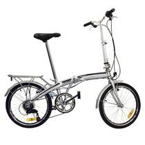 Nueva 20 Plegable Bicicleta Shimano 6 Velocidad Plata Para