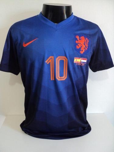 Camisa Holanda Away 14-15 Sneijder 10 Copa 2014 Vs Espanha - R  200 ... 9667539ab65e8