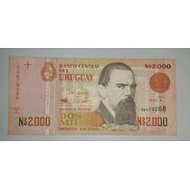 Billete Uruguay 2000 Nuevos Pesos Moneda Nacional *029
