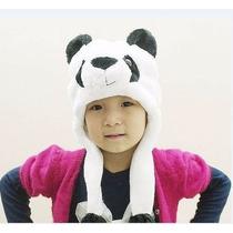Touca Gorro Bichinho Pelúcia Cosplay Urso Panda