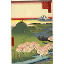 Lienzo Tela Escuela Utagawa Paisaje Monte Fuji Japón 75x50cm