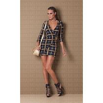 Vestido Transpassado Metal Maria Gueixa Ref 3871