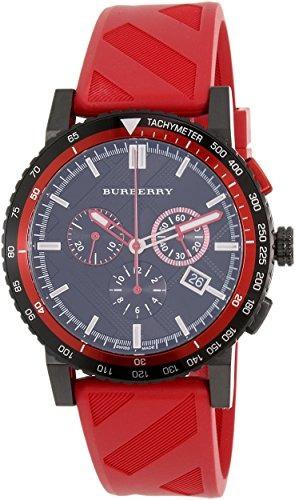 022361e6bec7 Reloj Burberry Black Dial Ss Rojo Cronógrafo Cuarzo Goma -   1.782.990 en  Mercado Libre