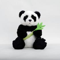 Oso Panda De Peluche Con Bambú