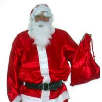 Roupa De Papai Noel Adulto Fantasia Xgg Ate 64 - Cetim Real
