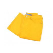Pantalón De Mezclilla Color Naranja Escada Sport