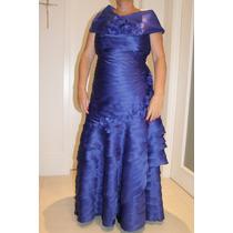 Vestido De Festa, Mãe De Noiva/noivo Tamanho 46 Azul