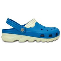 Zapato Crocs Dama Duet Max Clog Azul/blanco