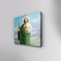 Cuadro Decorativo San Judas Tadeo En Canvas 30x30cm