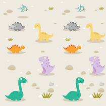 Adesivo De Parede Infantil Dinossauros 0,58x3,00m