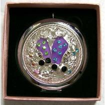 Espejo De Mujer Personal Para Bolso Ref:6960-1 Con Aumento