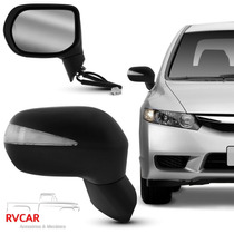 Retrovisor Com Pisca New Civic 07/11