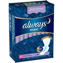 Siempre Maxi Pad Durante La Noche Extra Pesado Con Alas 27 D