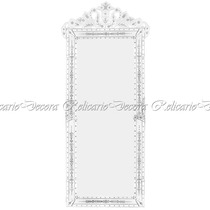 Espelho Veneziano Vertical Grande Todo Trabalhado Coroa