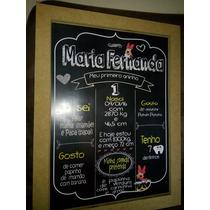 Chalkboard Com Moldura Mdf E Impressão Em Couche.