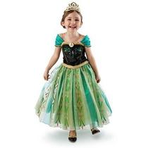 Disfraz Vestido Anna Frozen Coronacion Disney Store Eeuu