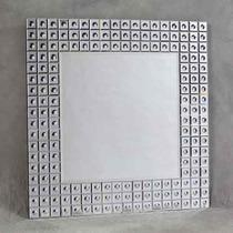 Espelho Decorado Para Parede Grande Quadrado