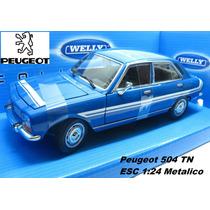 Peugeot 504 Tn Coleccion Esc1:24 Metal Welly Alta Calidad!