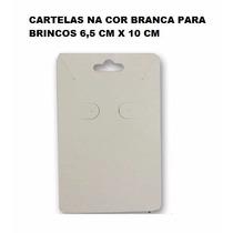 Pacote C/ 100 Unidades De Cartelas Cor Branca Para Brincos