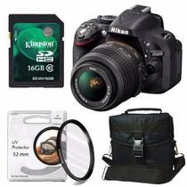 Nikon D5200 Kit 18-55mm Filtro Uv+ Sd 16gb C10+ Bolso+ Envio