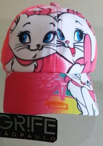 Boné Infantil Gata Marrie Rosa Pink Color Chapeu Crianças - R  15 66eaf2c8cad