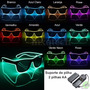 Oculos Led Brilha No Escuro / Luz Negra / Fluorescente Fluor