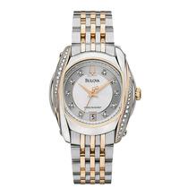 Relógio Analógico Bulova Social Feminino Dourado Wb27529s