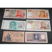 Lote De 6 Billetes Pesos Y Australes Argentinos Antiguos