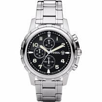 Reloj Fossil Mod. Fs4542 Plateado Con Cronometro Para Hombre