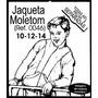 Molde De Jaqueta Moletom 10/12/14 Anos
