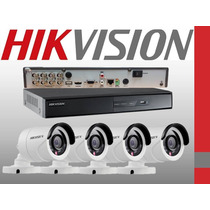 Kit 4 Camaras Hd 720p Dvr Hikvision 8 Canales Full Hd 1080p