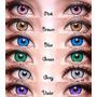 Lentes De Contacto Dolly Eye Eos Gris Marron Rojo Verde
