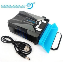 Enfriador Ventilador Lap Ice Troll 5 Con Pantalla Lcd- Te202