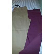 Pantalones Jean Tiro Alto Rectos De Colores T 58 Al 68 $ 650