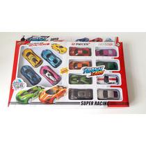 Flash Cars 12 Carrinhos Fricção Vários Modelos Super Racing