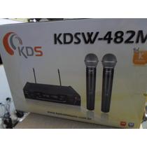 Microfone S/ Fio Duplo Kadosh - Uhf Digital - Frete Grátis!!