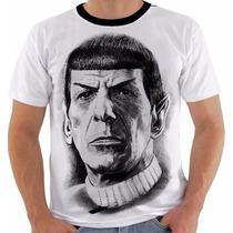 Camiseta Ou Babylook Spock Star Trek Jornada Nas Estrelas