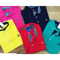 Camisa Polo Masculina Tommy Lacoste Nike Dudalina Kit 10 Pçs