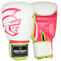 Luva De Boxe Pretorian Training (branco E Pink) (14oz)