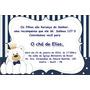 30 Convites Com Envelope E Selo Personalizados Chá De Bebê