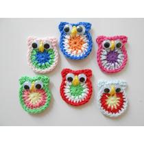 Imán Para Heladera Souvenir Búho-lechuza A Crochet C/tarjeta