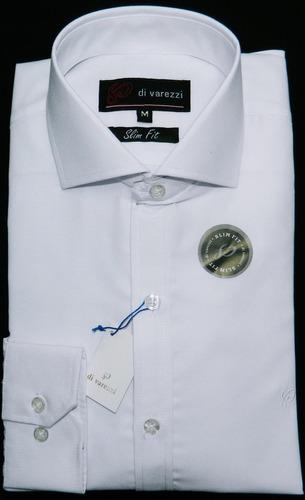 Camisa Hombre Entallada Lisa Cuello Italiano Varios Colores! -   1.430 bd0901df417